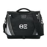 Slope Black/Grey Compu Messenger Bag-Greek Letters - One Color