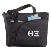 Excel Black Sport Utility Tote-Greek Letters - One Color