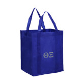 Non Woven Royal Grocery Tote-Greek Letters - One Color