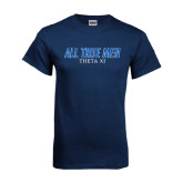 Navy T Shirt-Slogan