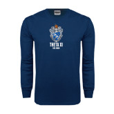 Navy Long Sleeve T Shirt-Crest Est Year