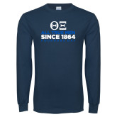 Navy Long Sleeve T Shirt-Founders Day - Slogan