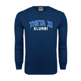 Navy Long Sleeve T Shirt-Arched Alumni