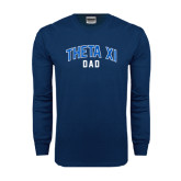 Navy Long Sleeve T Shirt-Arched Dad