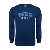Navy Long Sleeve T Shirt-Arched Legacy