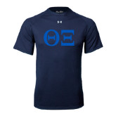 Under Armour Navy Tech Tee-Greek Letters - One Color