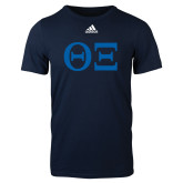 Adidas Navy Logo T Shirt-Greek Letters - One Color