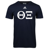 Adidas Climalite Navy Ultimate Performance Tee-Greek Letters - One Color