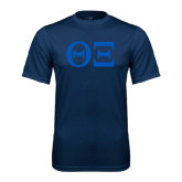 Syntrel Performance Navy Tee-Greek Letters - One Color