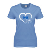 Ladies Arctic Blue T Shirt-Wife Heart