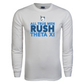 White Long Sleeve T Shirt-Rush - Slogan