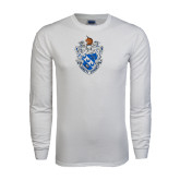 White Long Sleeve T Shirt-Crest