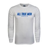 White Long Sleeve T Shirt-Slogan