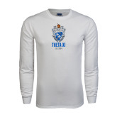 White Long Sleeve T Shirt-Crest Est Year