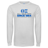 White Long Sleeve T Shirt-Founders Day - Slogan