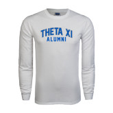 White Long Sleeve T Shirt-Arched Alumni