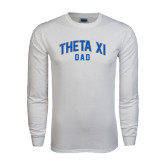 White Long Sleeve T Shirt-Arched Dad