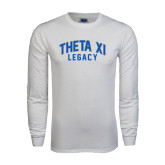 White Long Sleeve T Shirt-Arched Legacy