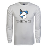 White Long Sleeve T Shirt-Unicorn Word Mark