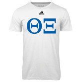Adidas Climalite White Ultimate Performance Tee-Greek Letters - One Color