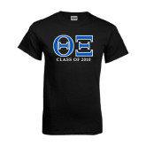 Black T Shirt-Greek Letters - Personalized Class Of...