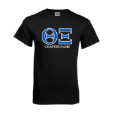 Black T Shirt-Greek Letters - Personalized Chapter Name