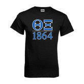 Black T Shirt-Greek Letters 1864 Stacked