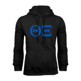 Black Fleece Hoodie-Greek Letters - One Color