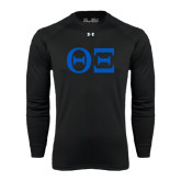 Under Armour Black Long Sleeve Tech Tee-Greek Letters - One Color