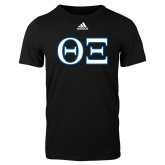 Adidas Black Logo T Shirt-Greek Letters - One Color