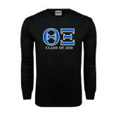 Black Long Sleeve TShirt-Greek Letters - Personalized Class Of...
