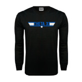 Black Long Sleeve TShirt-Theta Xi - Top Gun