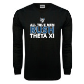 Black Long Sleeve TShirt-Rush - Slogan
