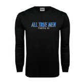 Black Long Sleeve TShirt-Slogan