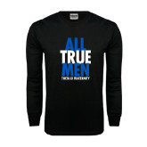 Black Long Sleeve TShirt-Slogan Stacked