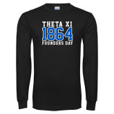 Black Long Sleeve TShirt-Founders Day - Jersey Style