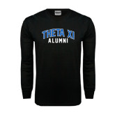 Black Long Sleeve TShirt-Arched Alumni