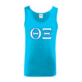 Light Blue Tank Top-Greek Letters - One Color