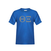 Youth Royal T Shirt-Greek Letters - One Color