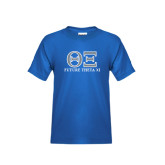 Youth Royal T Shirt-Greek Letters - Future Theta Xi