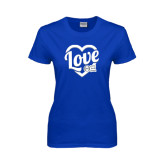 Ladies Royal T Shirt-Love in Heart - Sweetheart
