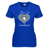 Ladies Royal T Shirt-Sweetheart Heart