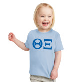 Toddler Light Blue T Shirt-Greek Letters - One Color