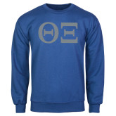 Royal Fleece Crew-Greek Letters - One Color