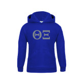 Youth Royal Fleece Hood-Greek Letters - One Color
