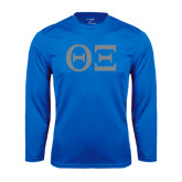 Syntrel Performance Royal Longsleeve Shirt-Greek Letters - One Color