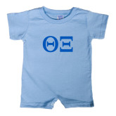 Light Blue Infant Romper-Greek Letters - One Color