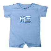 Light Blue Infant Romper-Greek Letters - Future Theta Xi