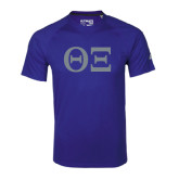 Adidas Climalite Royal Ultimate Performance Tee-Greek Letters - One Color
