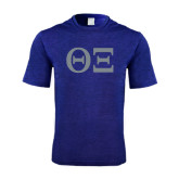 Performance Royal Heather Contender Tee-Greek Letters - One Color